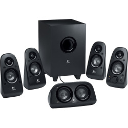 Logitech Z506 5.1 Channel Surround Sound Speakers with Wired Subwoofer, Black