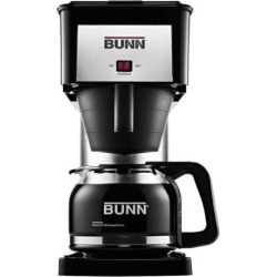 Bunn® Velocity Brew® Silver Finish 10-Cup Coffee Brewer, Black