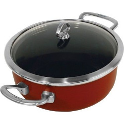 Chantal Copper Fusion 4 Quart Risotto Pan with Lid – Red