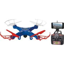 World Tech Toys Striker Live Feed Spy Quadcopter Drone, Blue