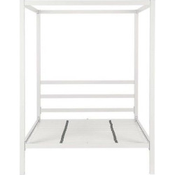 Modern Metal Canopy Bed (Full) – White – Dorel Home Products