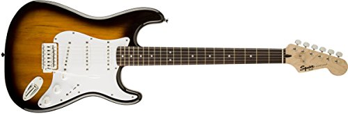 Squier by Fender Bullet Strat Beginner Electric Guitar – Brown Sunburst – Rosewood Fingerboard