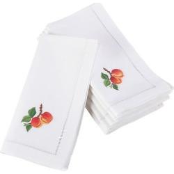 (Set of 6) White Embroidered Peach Design Napkin (20) – Saro Lifestyle