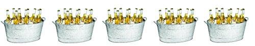 TableCraft Galvanized Beverage Tub, 5.5 Gallon (5-(Pack))