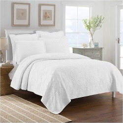 White Calypso Coverlet (Twin) – LaMont Home