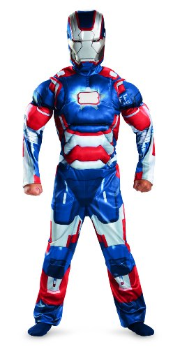 Marvel Iron Man 3 Patriot Boys Classic Muscle Costume, 3T-4T