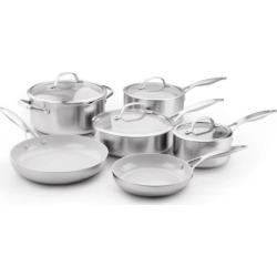 GreenPan Venice Pro 10-pc. Ceramic Nonstick Cookware Set, Multicolor