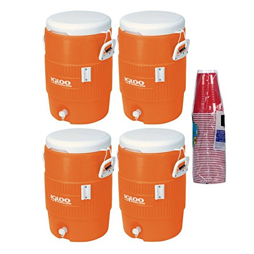 Igloo 5 Gallon Seat Top Beverage Jug with spigot – (4-Containers)