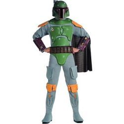Star Wars Men's Boba Fett Deluxe Costume Xxl(50-52), Size: Xxl (50-52), Multi-Colored