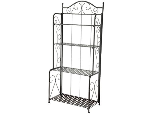 International Caravan 523767-OG-145553-O-783298 Bakers Rack, Antique Black