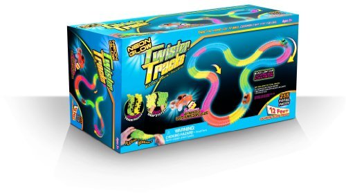 Mindscope TT255 Neon Glow Twister Tracks, 255-Pieces, 12 x 7 x 4.5-Inch (Discontinued by manufacturer)
