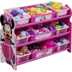 9 Bin Plastic Toy Organizer Disney Minnie Mouse – Delta Children, Pink