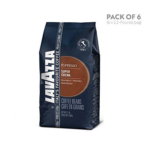 Lavazza Super Crema Espresso Beans – 2.2lb Bags (Case of 6)