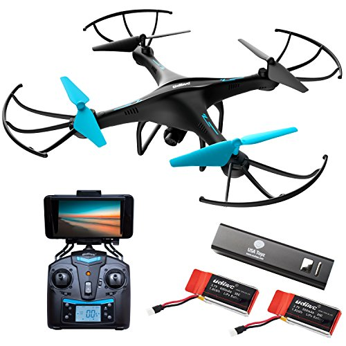 Force1 Drone Camera Live Video – Cool WiFi FPV Quadcopter & Smartphone Remote Control – RC Robot Hover Toys Adults, Teens, Kids, Boys & Girls w/ Extra Battery Indoor Outdoor Games