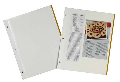 Meadowsweet Kitchens Self-Adhesive Magnetic Pages for Recipe Clippings for 3 ring binders