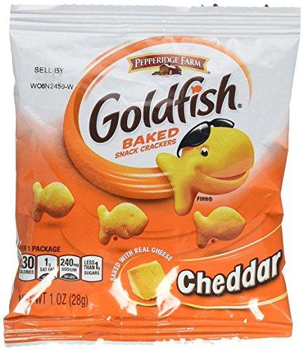Pepperidge Farm Cheddar Goldfish Crackers (1 oz), 225 pouches