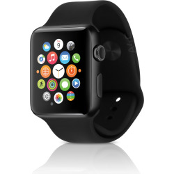 Apple Watch Series 2 w/ 38mm Space Black Stainless Steel Case & Sport Band – Black (Refurbished)