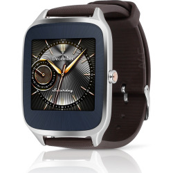 Asus ZenWatch 2 Silver Case w/ Rubber Band – Black (Refurbished)