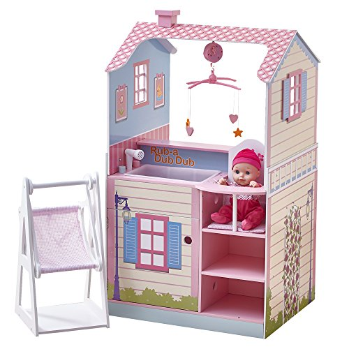 Olivia's Little World – Olivia's Classic Doll Changing Station Dollhouse-pink