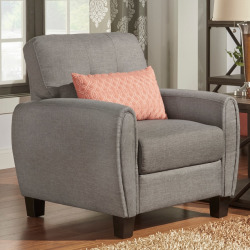 HomeVance Manda Eclipse Arm Armchair, Grey