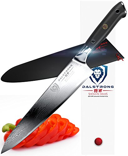 DALSTRONG Chef Knife – Shogun Series Gyuto – AUS-10V- Vacuum Heat Treated – 9.5″ (240mm)