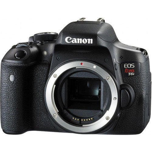 Canon EOS Rebel T6i Digital SLR (Body Only) – Wi-Fi Enabled