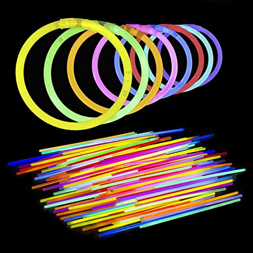 Lumistick 3000 Count 8″ Light-Up Premium GlowSticks/Bracelets in Glowsticks – Comes With Bracelet Connectors – Perfect for Birthdays, Parties, Performances, Halloween & More!