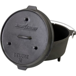 Camp Chef Cast-Iron Deluxe Dutch Oven, Black