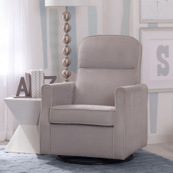 Delta Children Clair Glider Swivel Rocker Chair, Grey