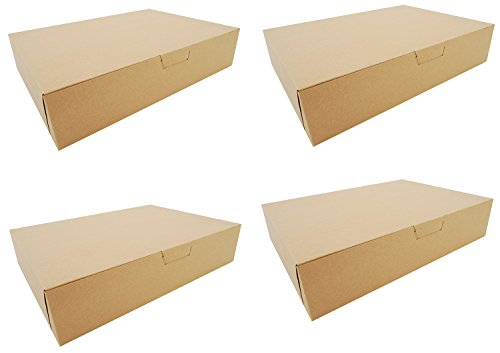 Southern Champion Tray 1029K Kraft Non Window Bakery Box, 19″ Length x 14″ Width x 4″ Height (Case of 50) (4 pack)