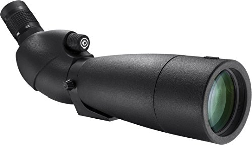 BARSKA AD12360 WP Level Angled Spotting Scope, Black, 20-60×80