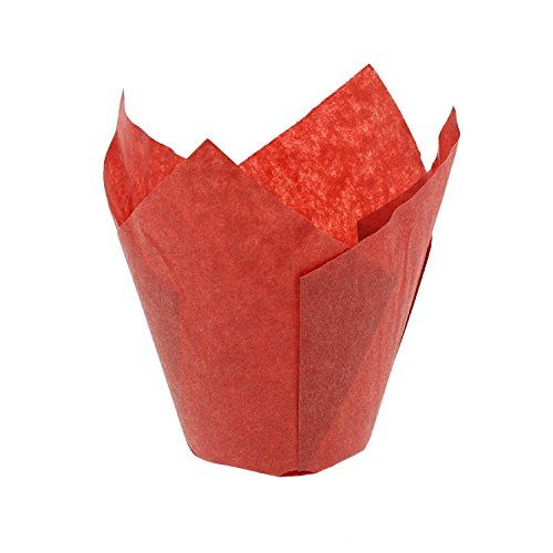 CiboWares Medium Red Tulip Style Baking Cups, Case of 2,000