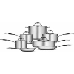 Tramontina Gourmet Tri-Ply 12-pc. Stainless Steel Cookware Set, Grey