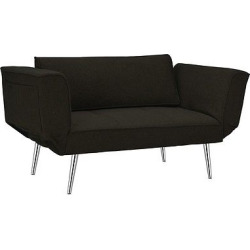 Euro Futon with Magazine Storage – Black – Dorel Home Products
