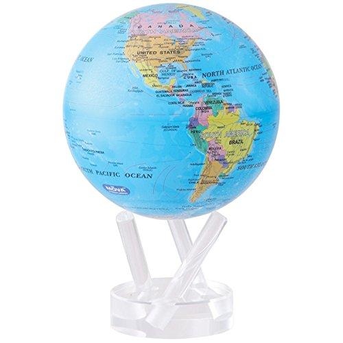 4.5″ Blue with Political Map MOVA Globe