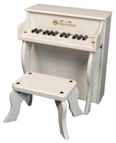 Schoenhut White 25 Key Elite Spinet with Bench