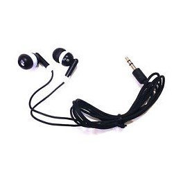 TFD Supplies Wholesale Bulk Earbuds Headphones 200 Pack For Iphone, Android, MP3 Player - Black