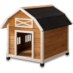 Pet Squeak The Barn Dog House – Large, Brown