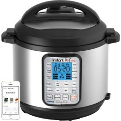Instant Pot Smart 60 Bluetooth Multi-Use Programmable Pressure Cooker 6qt |Stainless Steel, Silver