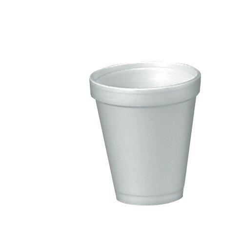 Dart 4J4 Foam Drink Cups, 4oz, 25 Per Bag (Case of 40 Bags) (10 pack)