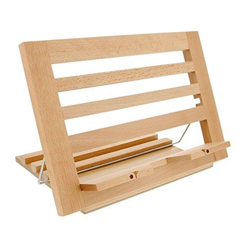 US Art Supply Extra-Large Wooden Bookrack Table Easel & Cookbook Holder