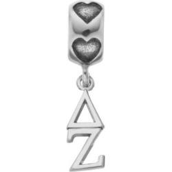 LogoArt Sterling Silver Delta Zeta Sorority Symbol Charm, Women's, Grey