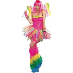 Women's Rainbow Fairy Costume Medium, Pink