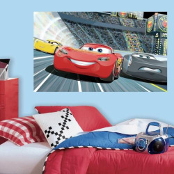 Disney / Pixar Cars 3 Peel & Stick Mural Wall Decal by RoomMates, Red