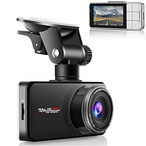 Emmabin Car Dash Cam 1080P Car Camera, Car Video Recorder Camera Supercapacitor, WDR Night Vision Dashboard, Full-HD 170 Wide Angle 2.7 inch LCD Screen USB Charging Vehicle Video Camera Loop Recording