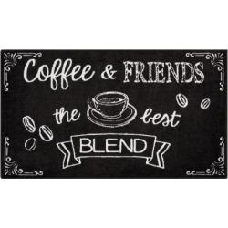Nourison Accent Decor Coffee & Friends Rug, Black
