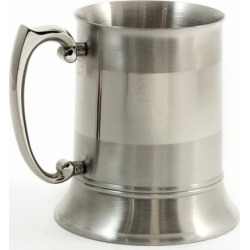 Stainless Steel 1-Pint Tankard, Multicolor