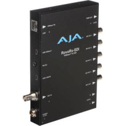 AJA UltraHD/HD HDBaseT Receiver with 6G/3G-SDI & HDMI Ou ROVORX-SDI