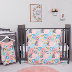Trend Lab Waverly Blooms 5 Piece Crib Bedding Set, Multi