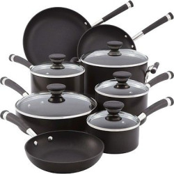 Circulon Acclaim 13 Piece Hard-Anodized Cookware Set – Black